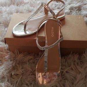 NEW! Aldo Renadia Flat Jewel Sandals